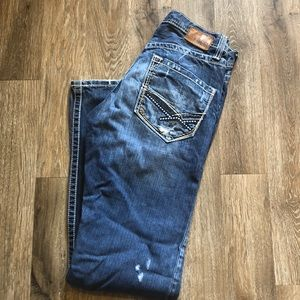 BKE Brayden Distressed Jeans 30 30x32 Denim